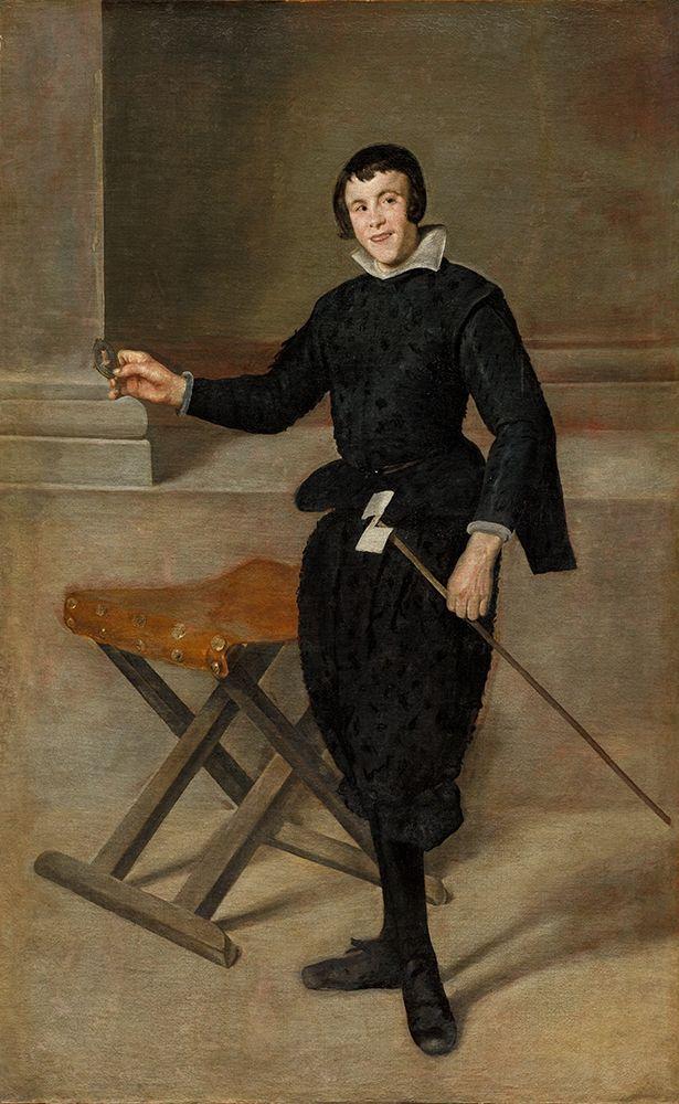 konfigurieren des Kunstdrucks in Wunschgröße Portrait of the Jester Calabazas von Velazquez, Diego