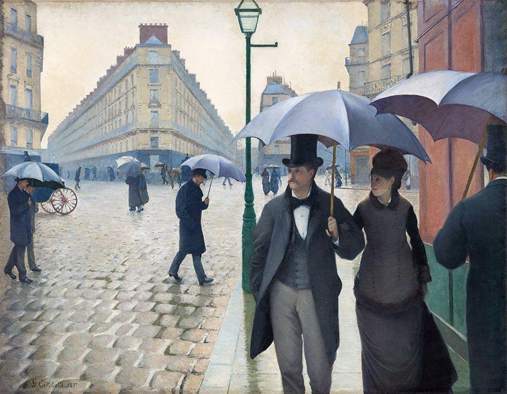 konfigurieren des Kunstdrucks in Wunschgröße Paris Street; Rainy Day 1877 von Caillebotte, Gustave
