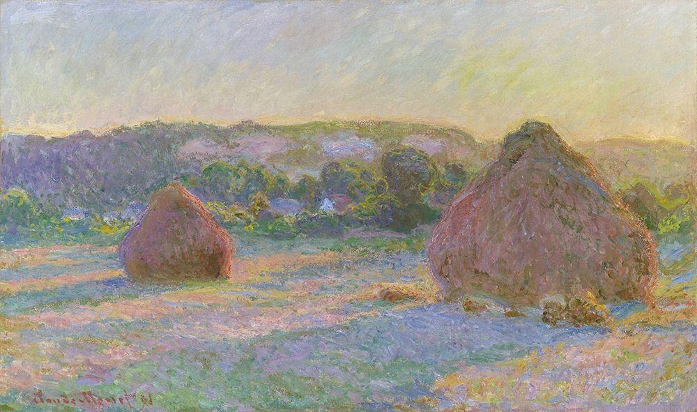 konfigurieren des Kunstdrucks in Wunschgröße Stacks of Wheat End of Summer 1890 von Monet, Claude