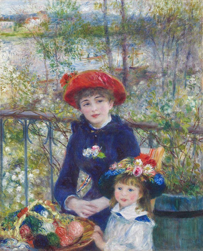 konfigurieren des Kunstdrucks in Wunschgröße Two Sisters (On the Terrace) von Renoir, Pierre-Auguste