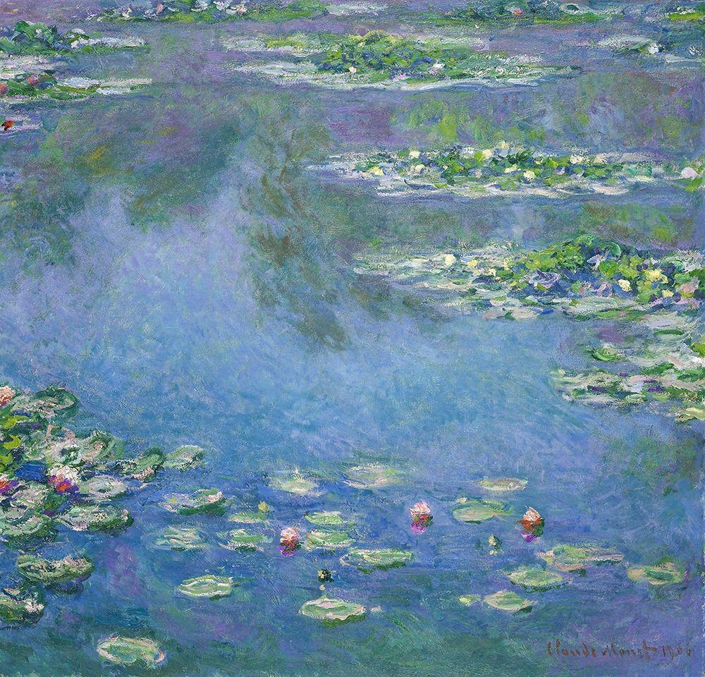 konfigurieren des Kunstdrucks in Wunschgröße Water Lilies 1906 von Monet, Claude