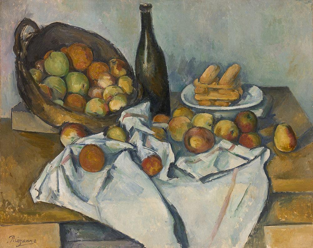konfigurieren des Kunstdrucks in Wunschgröße The Basket of Apples 1893 von Cezanne, Paul