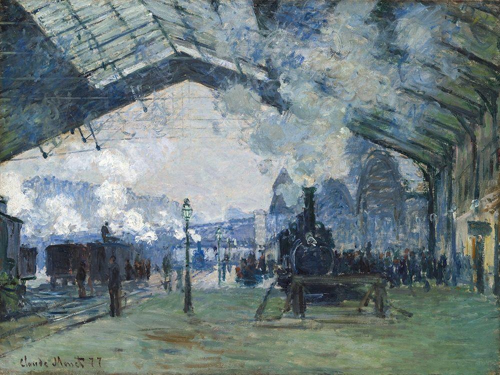 konfigurieren des Kunstdrucks in Wunschgröße Arrival of the Normandy Train, Gare Saint-Lazare 1877 von Monet, Claude