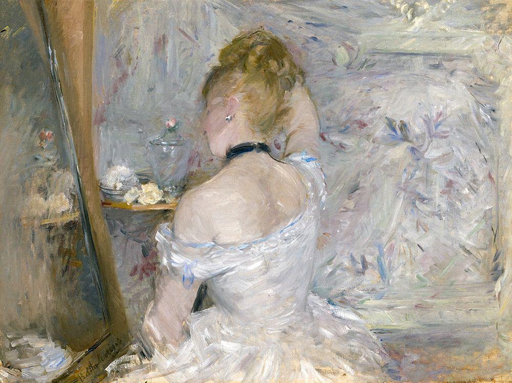 konfigurieren des Kunstdrucks in Wunschgröße Woman at Her Toilette von Morisot, Berthe