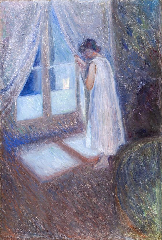 konfigurieren des Kunstdrucks in Wunschgröße The Girl by the Window 1893 von Munch, Edvard