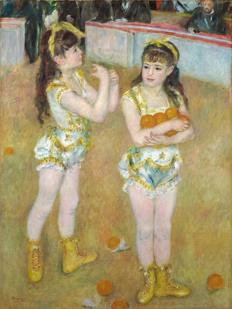 konfigurieren des Kunstdrucks in Wunschgröße Acrobats at the Cirque Fernando (Francisca and Angelina Wartenberg) 1879 von Renoir, Pierre-Auguste