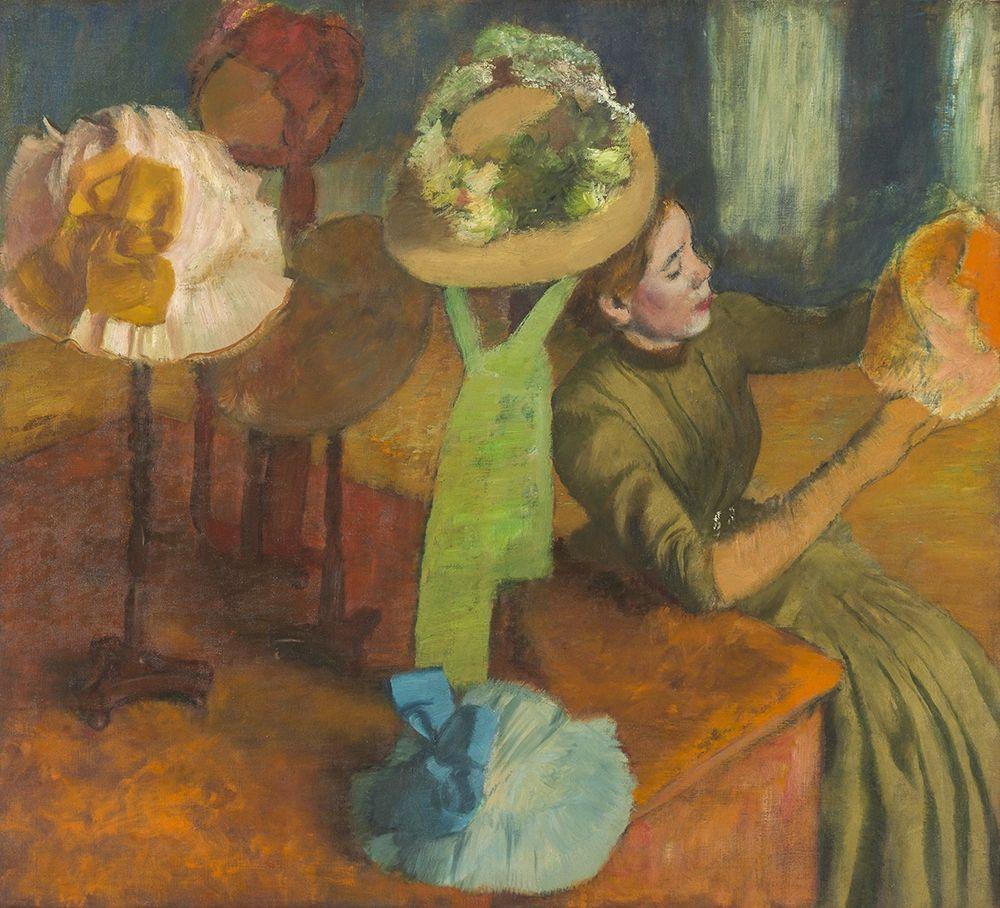 konfigurieren des Kunstdrucks in Wunschgröße The Millinery Shop von Degas, Edgar