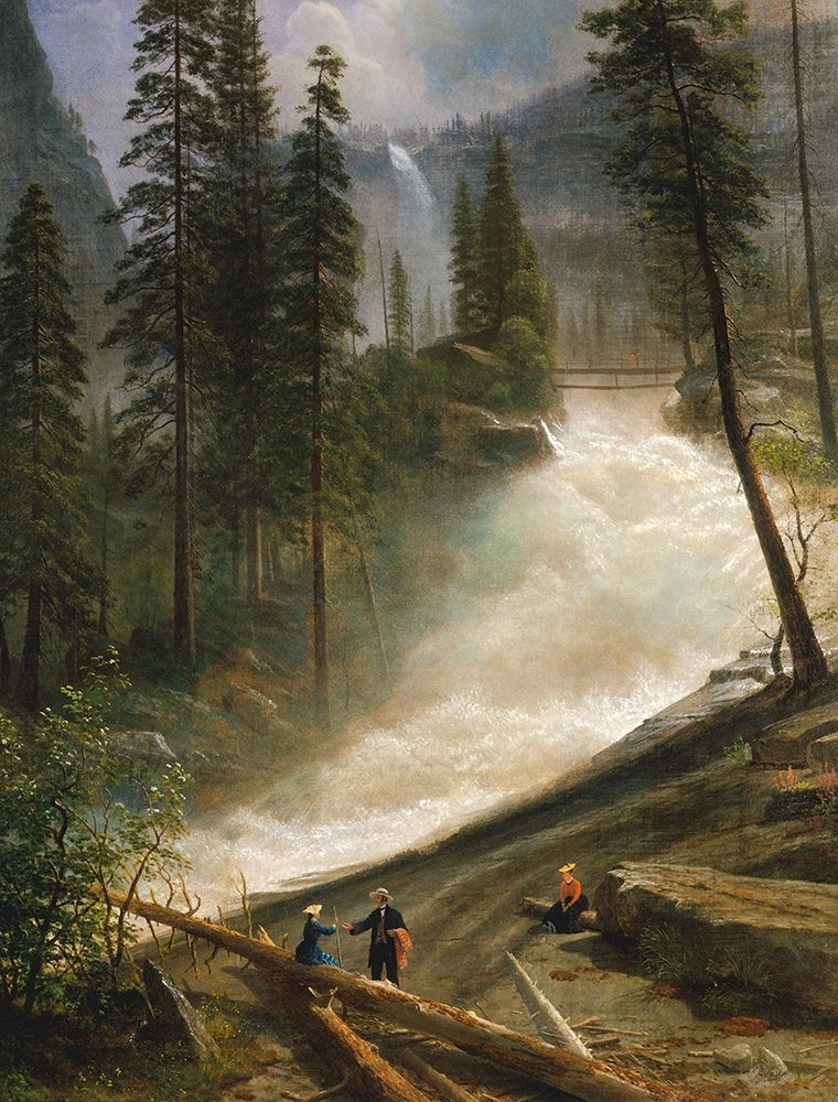 konfigurieren des Kunstdrucks in Wunschgröße Nevada Falls, Yosemite von Bierstadt, Albert