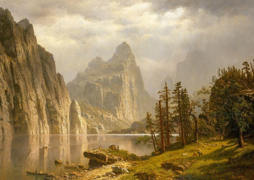 konfigurieren des Kunstdrucks in Wunschgröße Merced River, Yosemite Valley von Bierstadt, Albert