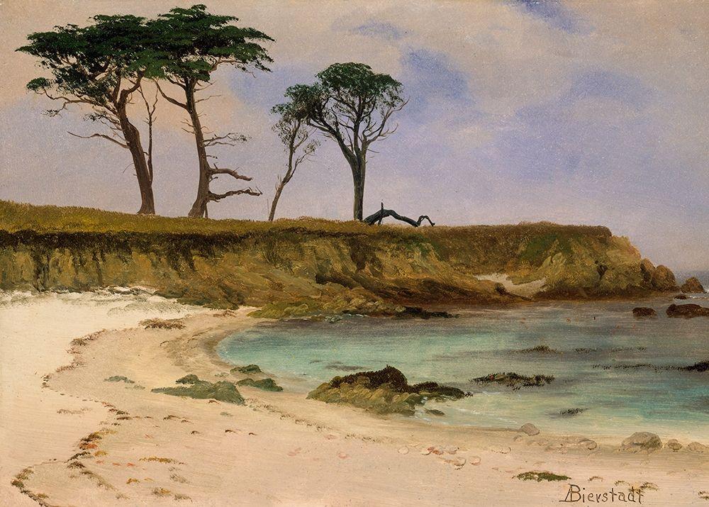 konfigurieren des Kunstdrucks in Wunschgröße Sea Cove von Bierstadt, Albert