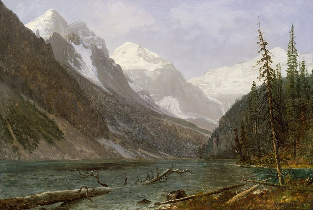 konfigurieren des Kunstdrucks in Wunschgröße Canadian Rockies (Lake Louise) von Bierstadt, Albert