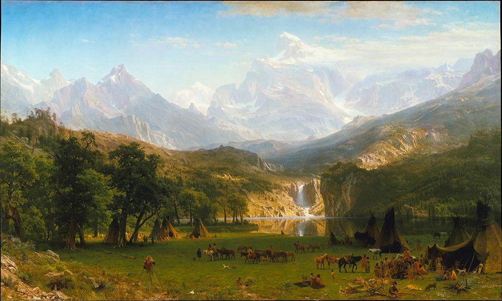 konfigurieren des Kunstdrucks in Wunschgröße The Rocky Mountains, Landers Peak von Bierstadt, Albert