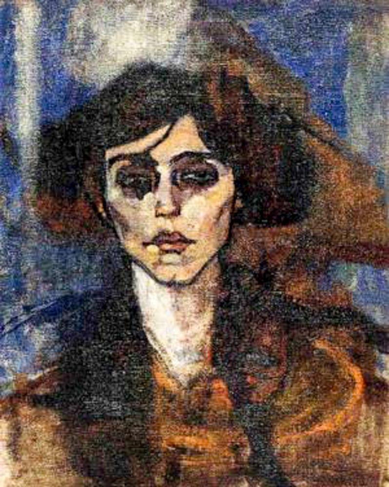 konfigurieren des Kunstdrucks in Wunschgröße Portrait-of-Maude-Abrantes, 1907 von Modigliani, Amedeo