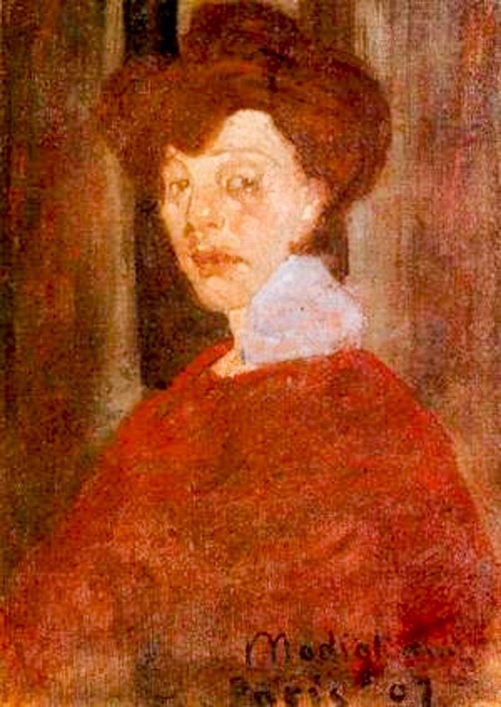 konfigurieren des Kunstdrucks in Wunschgröße Portrait of a Woman 1907 von Modigliani, Amedeo