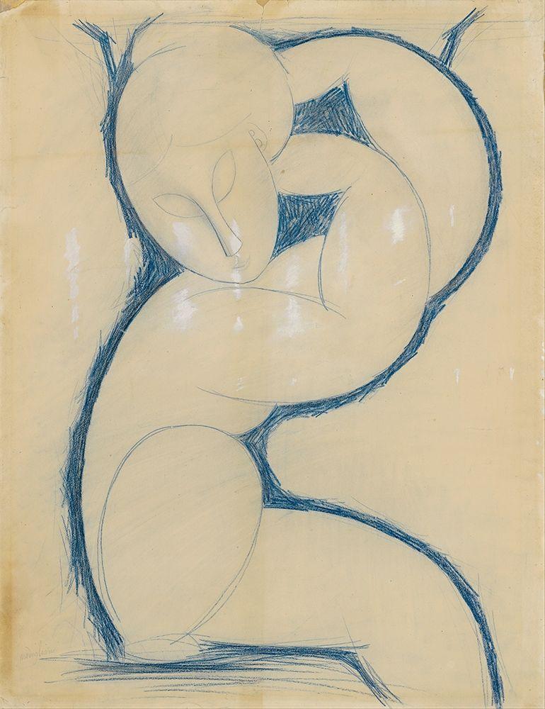 konfigurieren des Kunstdrucks in Wunschgröße Caryatid von Modigliani, Amedeo