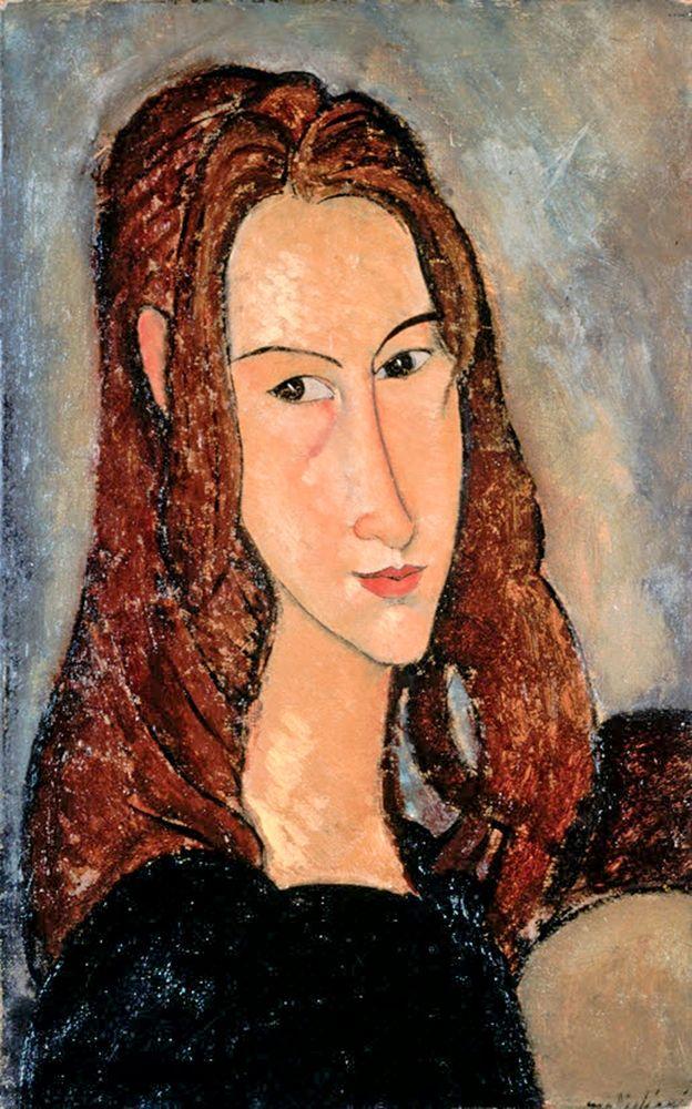 konfigurieren des Kunstdrucks in Wunschgröße Portrat of Jeanne Hobuterne von Modigliani, Amedeo