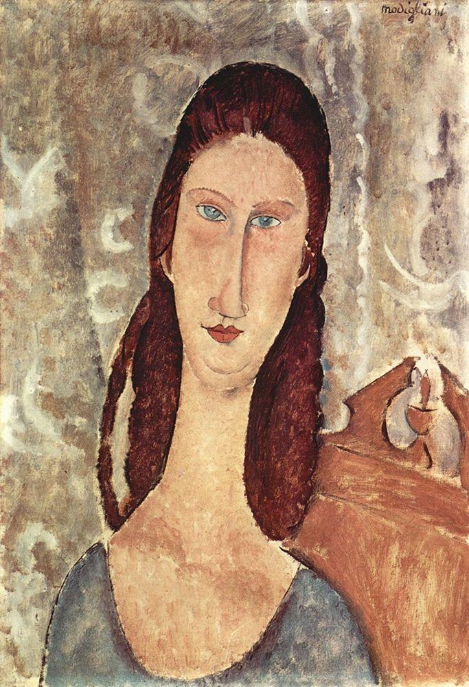 konfigurieren des Kunstdrucks in Wunschgröße Lady in chair von Modigliani, Amedeo