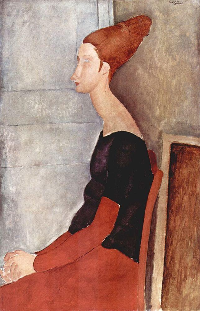 konfigurieren des Kunstdrucks in Wunschgröße Seated lady side view von Modigliani, Amedeo