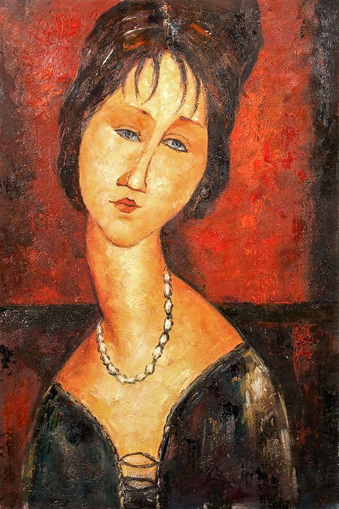 konfigurieren des Kunstdrucks in Wunschgröße Lady with necklace von Modigliani, Amedeo