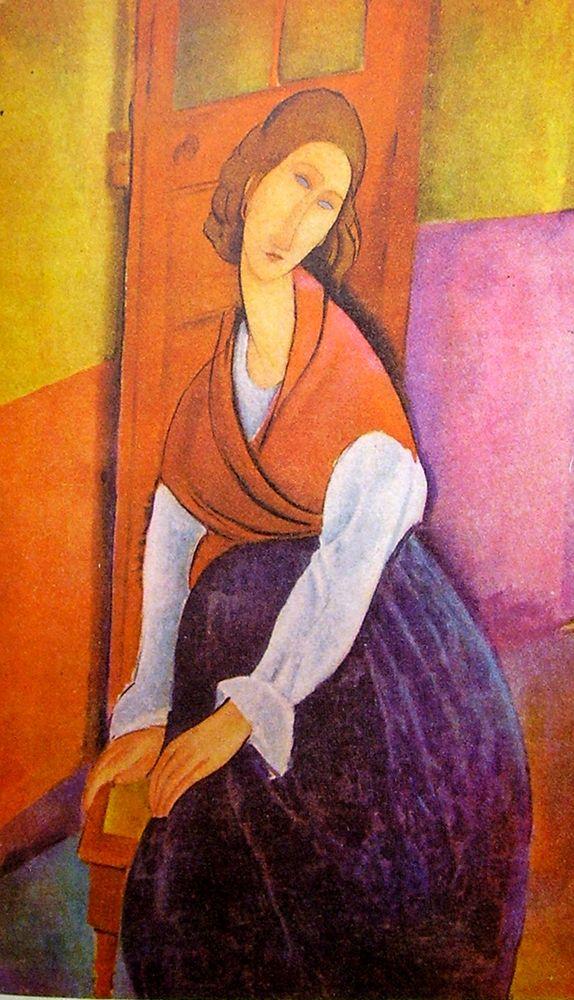 konfigurieren des Kunstdrucks in Wunschgröße Lady in red shawl von Modigliani, Amedeo