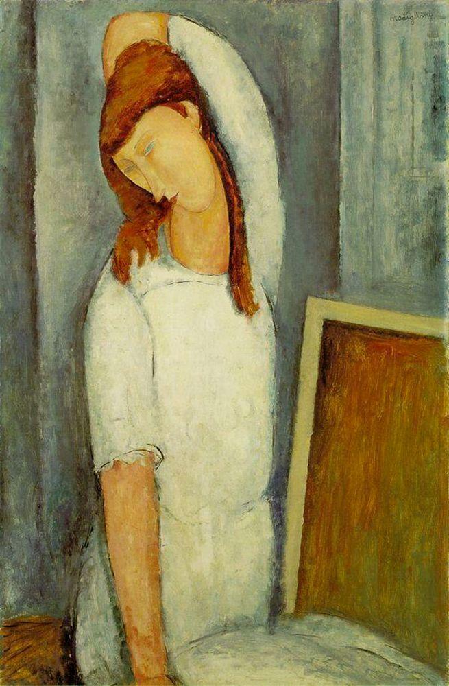 konfigurieren des Kunstdrucks in Wunschgröße Jeanne Hebuterne von Modigliani, Amedeo