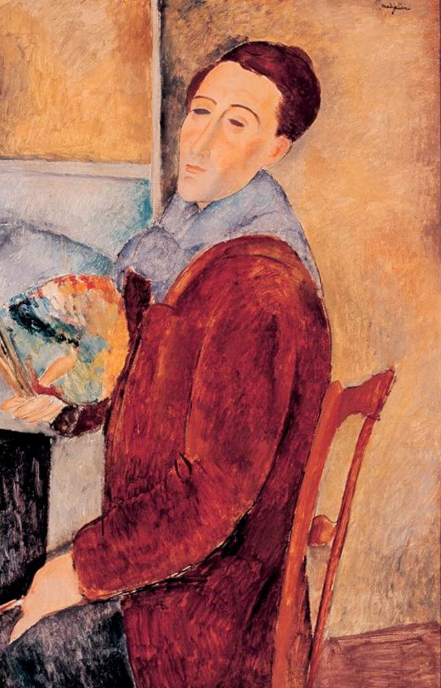 konfigurieren des Kunstdrucks in Wunschgröße Autoportrait, 1919 von Modigliani, Amedeo