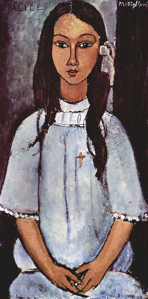konfigurieren des Kunstdrucks in Wunschgröße Alice von Modigliani, Amedeo