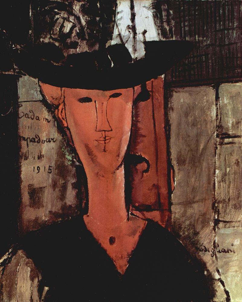 konfigurieren des Kunstdrucks in Wunschgröße Lady in a hat von Modigliani, Amedeo