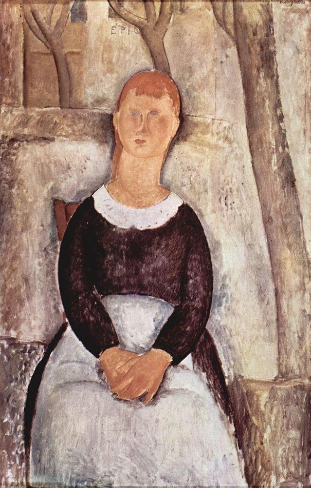 konfigurieren des Kunstdrucks in Wunschgröße Seated maid von Modigliani, Amedeo