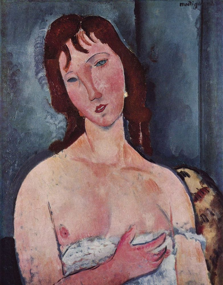 konfigurieren des Kunstdrucks in Wunschgröße Head and shoulders of a woman von Modigliani, Amedeo