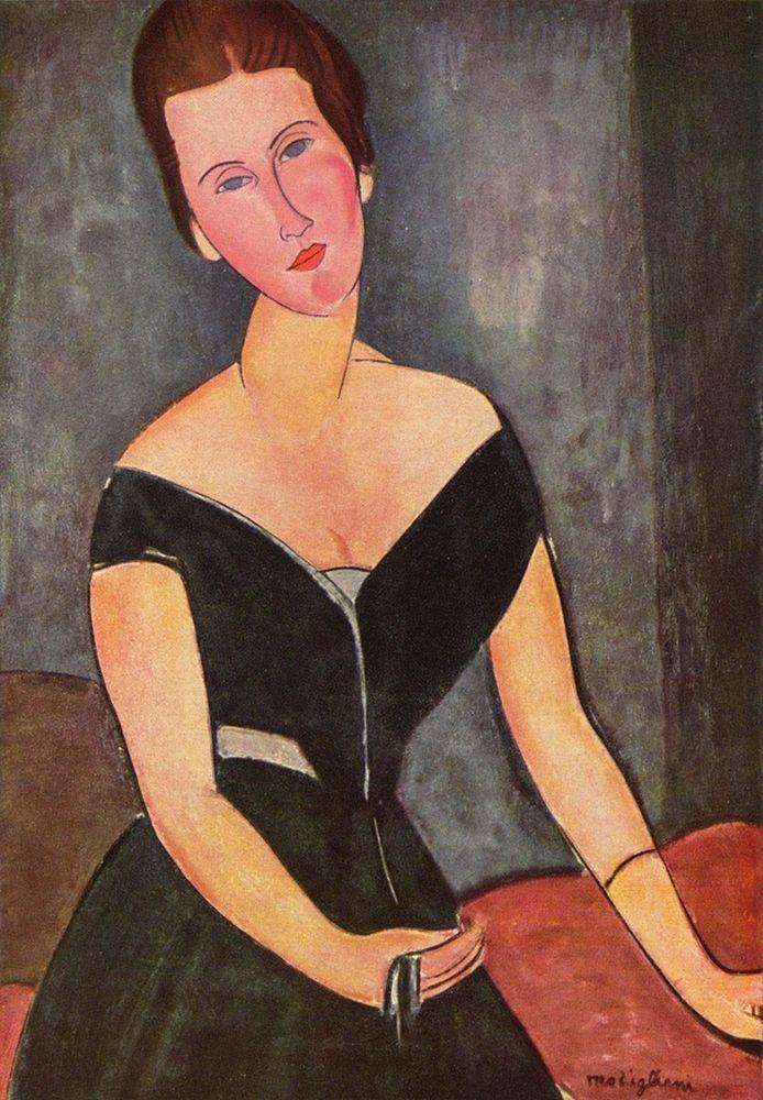 konfigurieren des Kunstdrucks in Wunschgröße Portrait of Mrs. van Muyden von Modigliani, Amedeo
