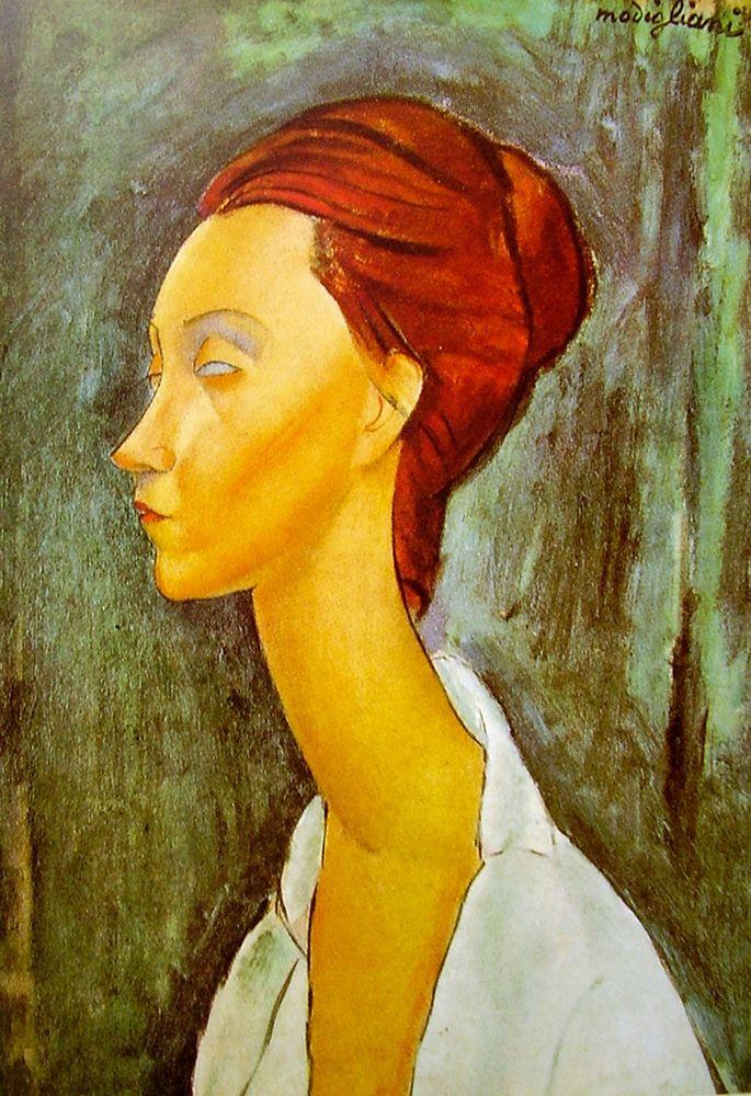 konfigurieren des Kunstdrucks in Wunschgröße Portrait of Lunia Czechowska side view von Modigliani, Amedeo