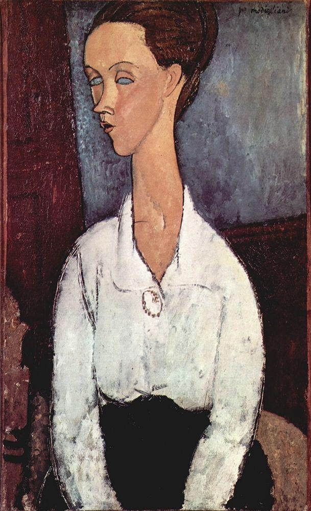 konfigurieren des Kunstdrucks in Wunschgröße Portrait of Lunia Czechowska von Modigliani, Amedeo
