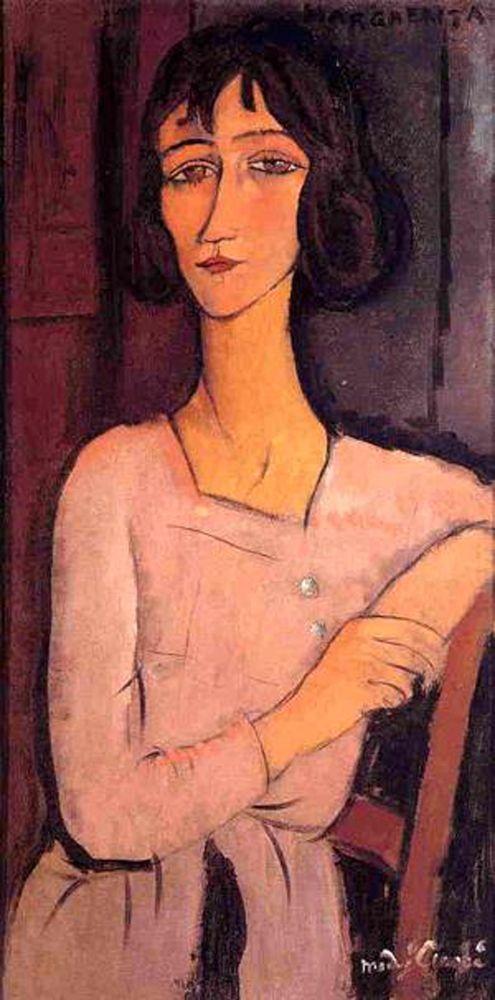 konfigurieren des Kunstdrucks in Wunschgröße Marguerite-Seated, 1916 von Modigliani, Amedeo