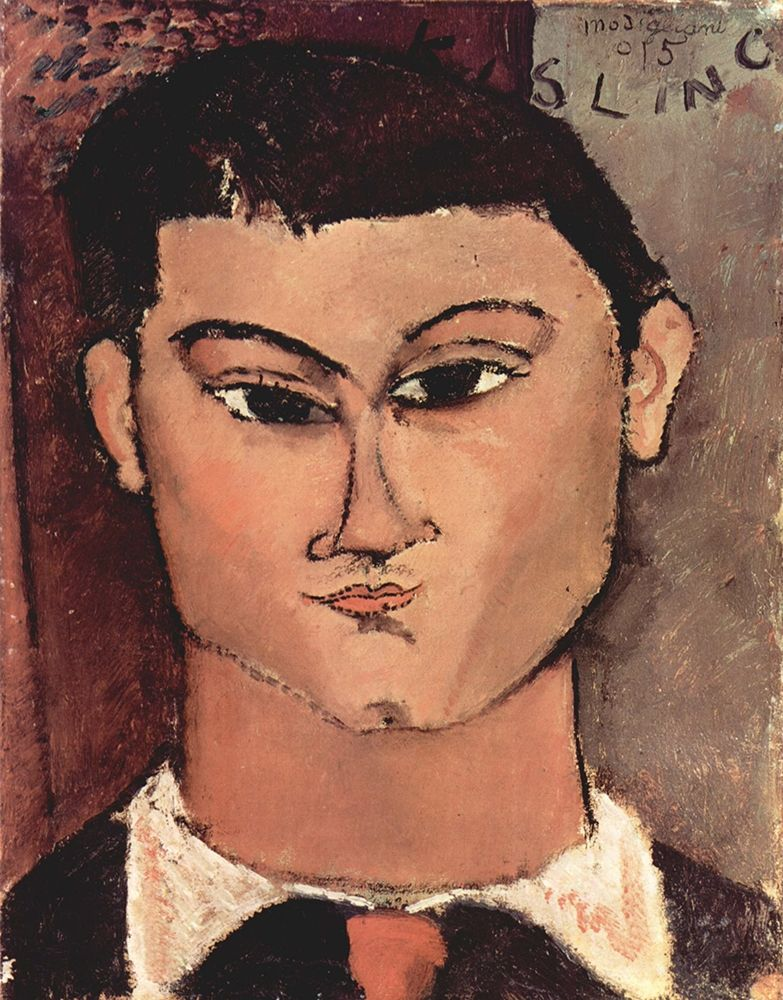 konfigurieren des Kunstdrucks in Wunschgröße Portrait of Moise Kisling, 1915 von Modigliani, Amedeo