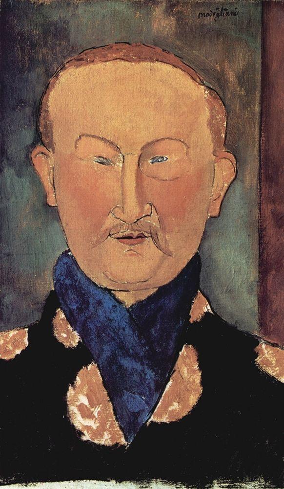konfigurieren des Kunstdrucks in Wunschgröße Man with blue scarf von Modigliani, Amedeo