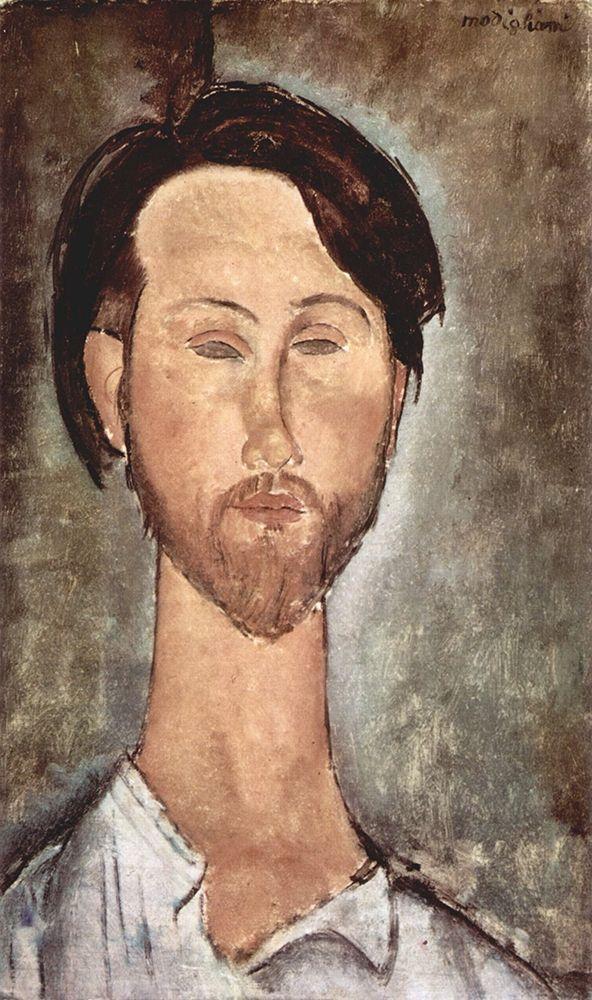 konfigurieren des Kunstdrucks in Wunschgröße Portrait of Leopold Zborowski von Modigliani, Amedeo