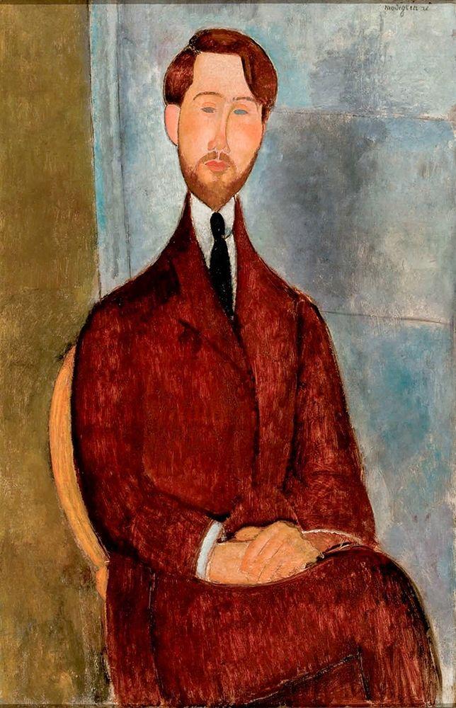 konfigurieren des Kunstdrucks in Wunschgröße Portrait of Leopold Zborowski in red suit von Modigliani, Amedeo