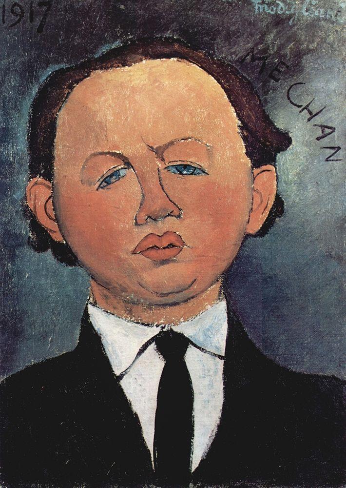 konfigurieren des Kunstdrucks in Wunschgröße Portrait of Mechan von Modigliani, Amedeo