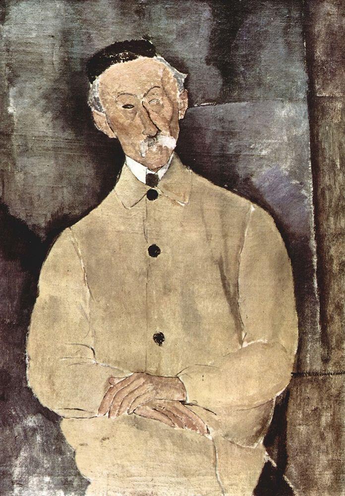 konfigurieren des Kunstdrucks in Wunschgröße Portrait of Monsieur Lepoutre von Modigliani, Amedeo