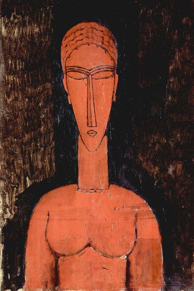 konfigurieren des Kunstdrucks in Wunschgröße Person with eyes closed von Modigliani, Amedeo