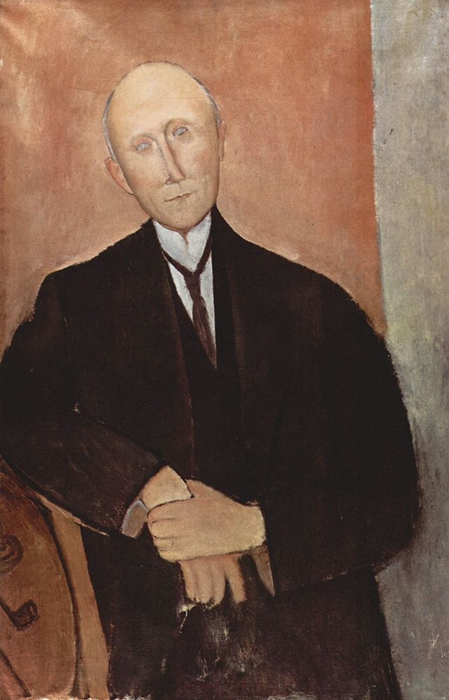 konfigurieren des Kunstdrucks in Wunschgröße Man in black jacket von Modigliani, Amedeo