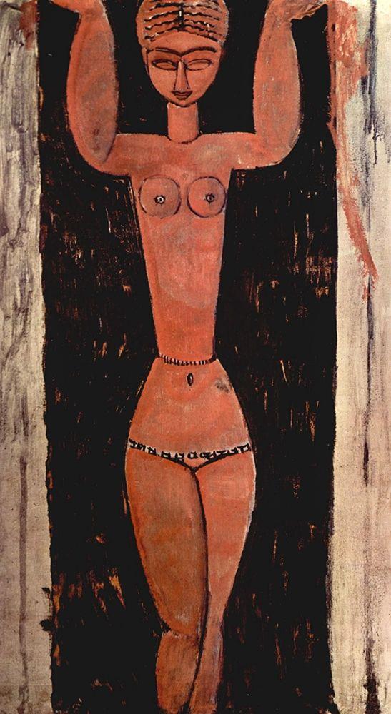 konfigurieren des Kunstdrucks in Wunschgröße Woman in doorway von Modigliani, Amedeo