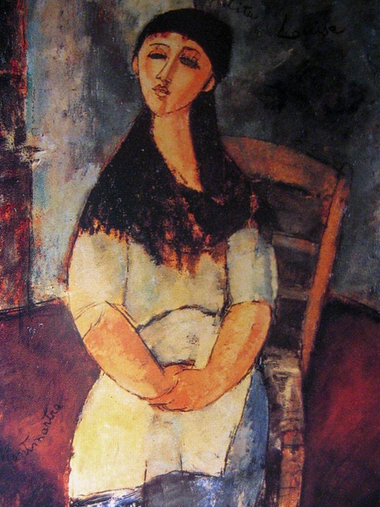konfigurieren des Kunstdrucks in Wunschgröße Little Louise, 1915 von Modigliani, Amedeo