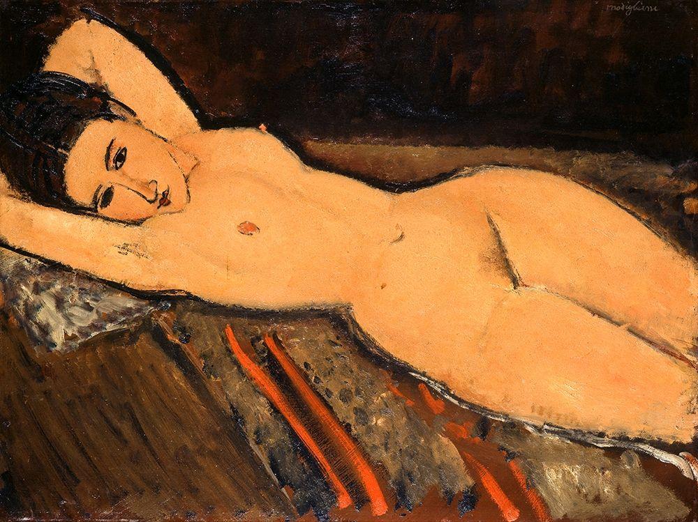 konfigurieren des Kunstdrucks in Wunschgröße Reclining Nude (1916) von Modigliani, Amedeo