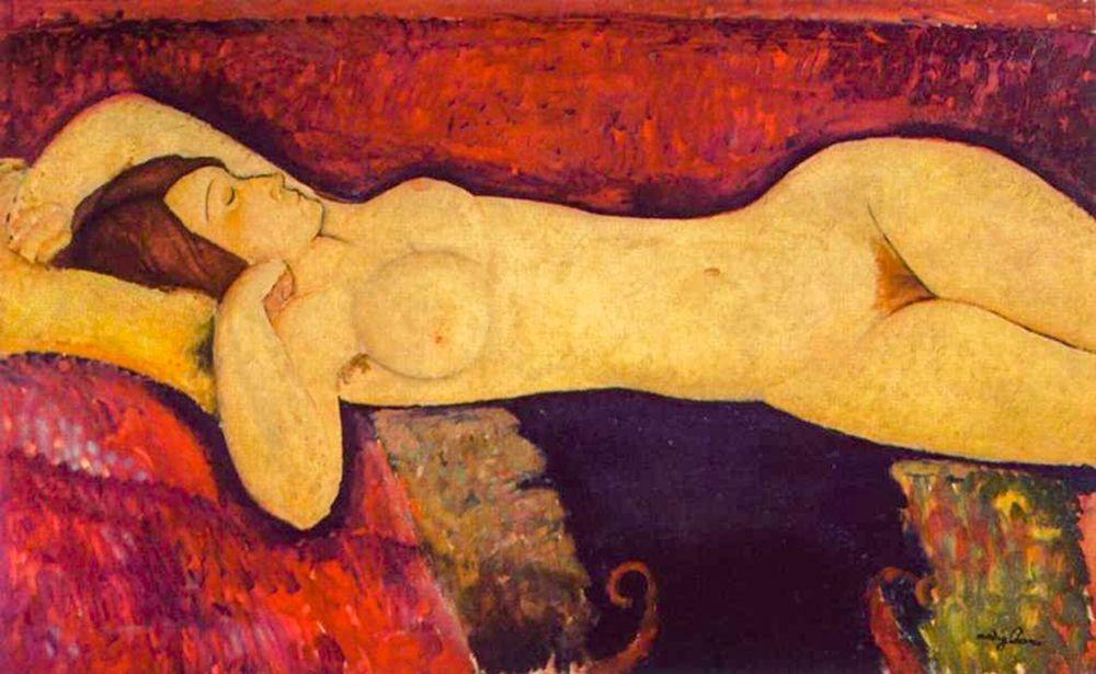 konfigurieren des Kunstdrucks in Wunschgröße Reclining Nude (1919) von Modigliani, Amedeo