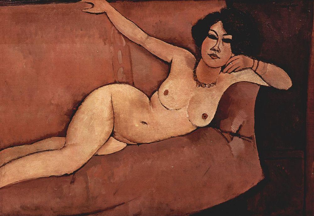 konfigurieren des Kunstdrucks in Wunschgröße Nude on couch von Modigliani, Amedeo