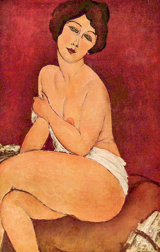 konfigurieren des Kunstdrucks in Wunschgröße Seated nude von Modigliani, Amedeo