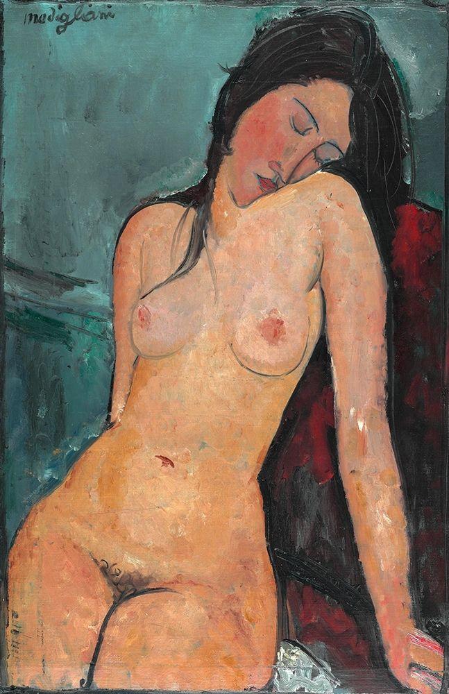 konfigurieren des Kunstdrucks in Wunschgröße Nude with head on shoulder von Modigliani, Amedeo