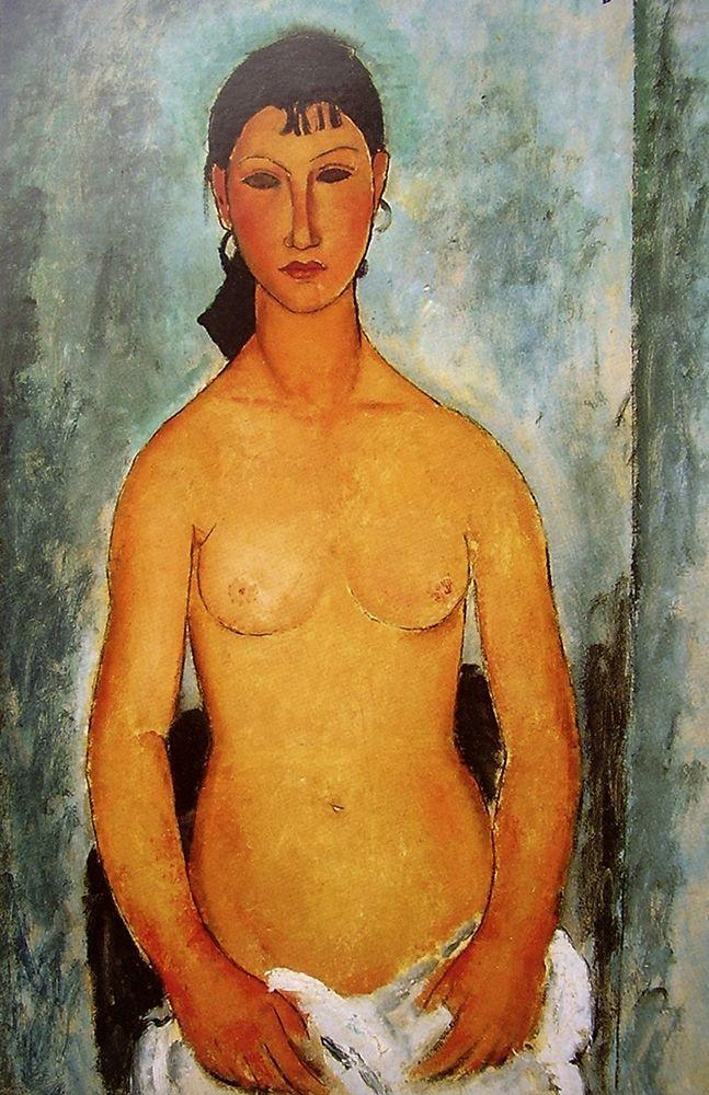 konfigurieren des Kunstdrucks in Wunschgröße Seated nude girl von Modigliani, Amedeo